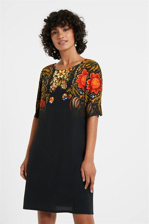 šaty Desigual Butterflower negro