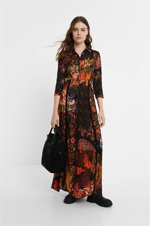 šaty Desigual Turin granate oscuro