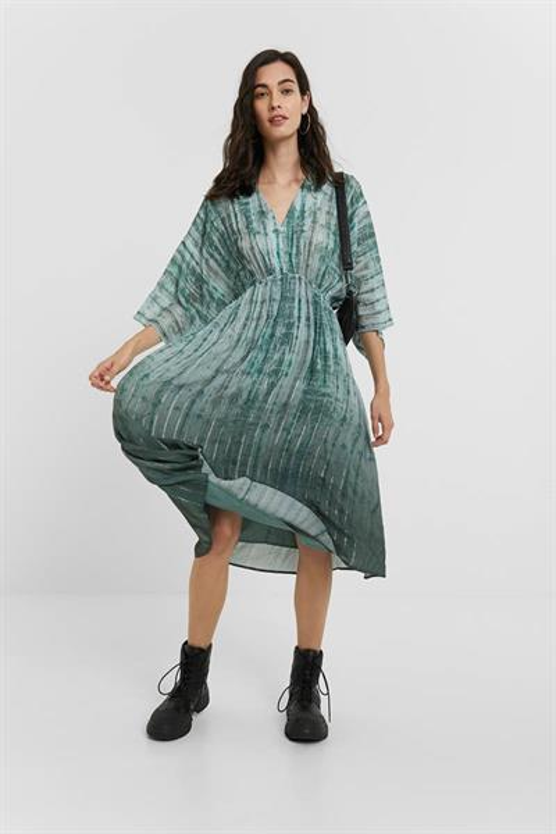 šaty Desigual Cendra musgo