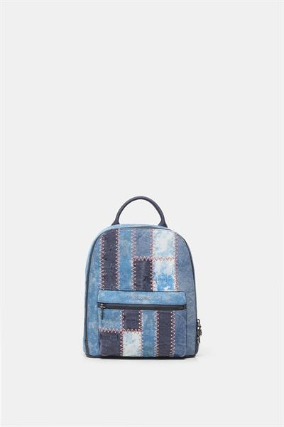 batoh Desigual Patch Den denim dark blue