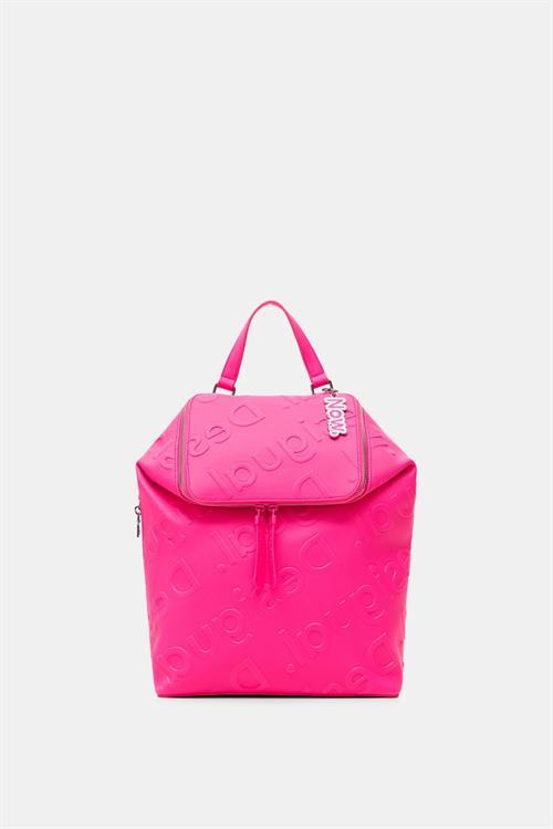 batoh Desigual Colorama Loen rosa fluor