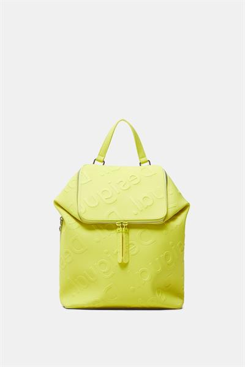 batoh Desigual Colorama Lo amarillo fluor