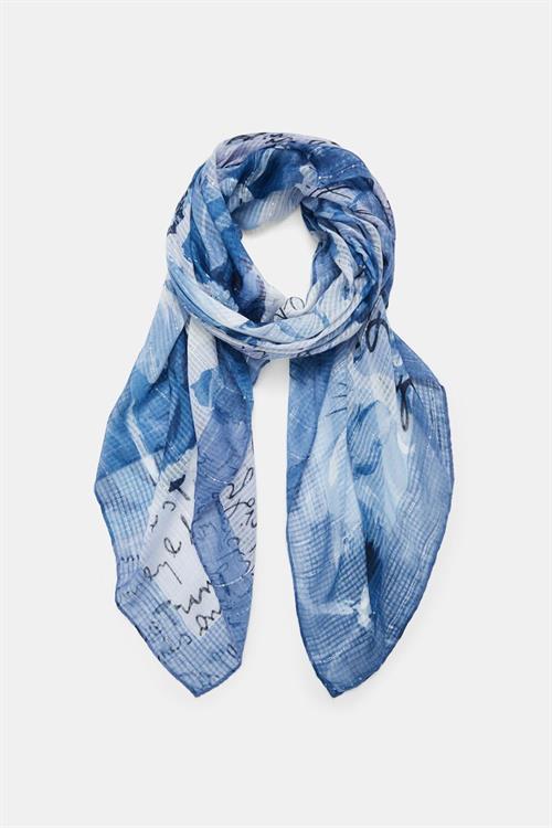 šála Desigual Art Picture azul tinieblas