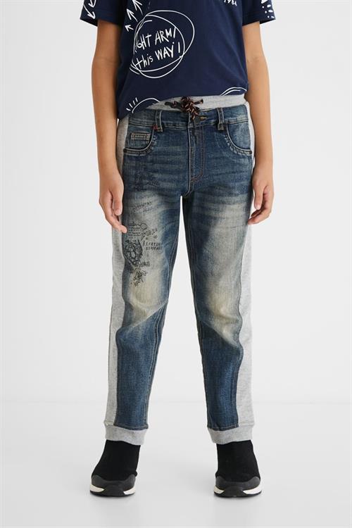 kalhoty Desigual Botto gris vigore medio