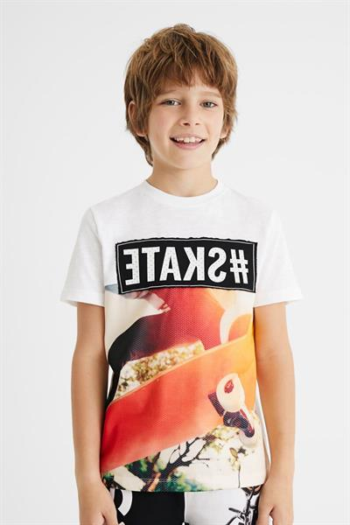 tričko Desigual Adrian blanco