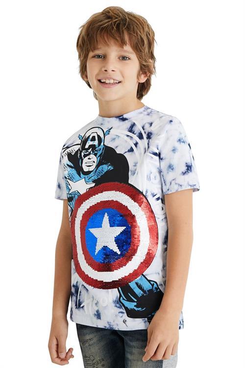 tričko Desigual Captain azul klein
