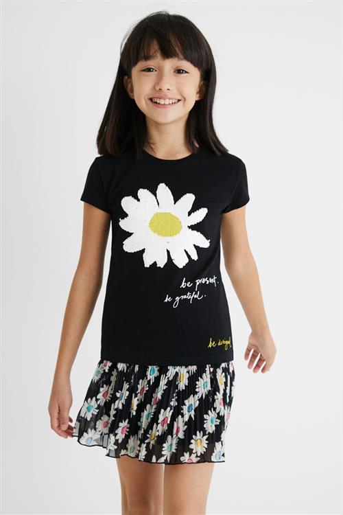 tričko Desigual Amberes negro