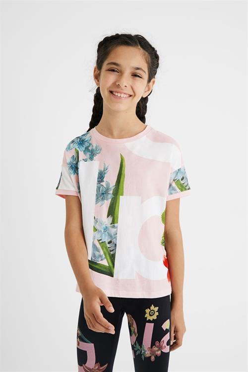tričko Desigual Turin rosa tailandia