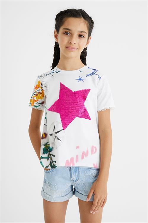 tričko Desigual Amparo blanco