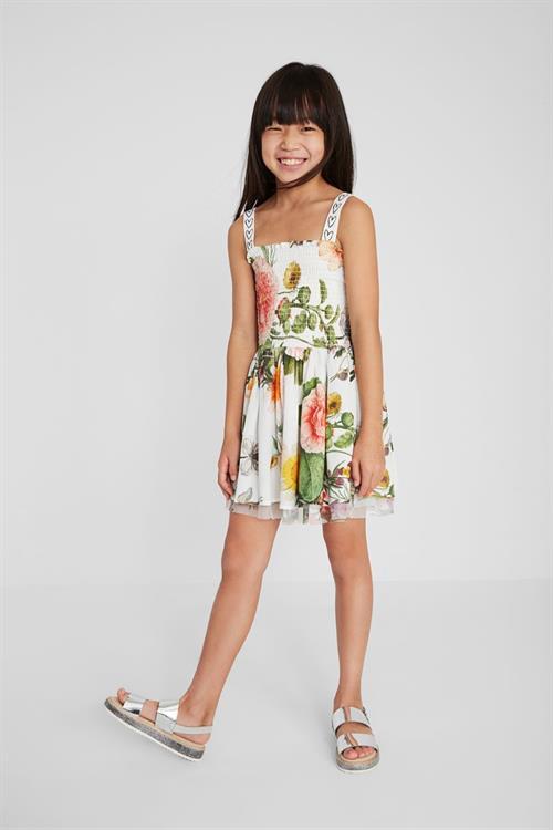 šaty Desigual Blossom blanco