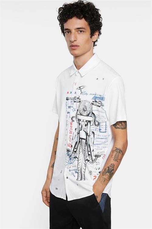 košile Desigual Acestes blanco