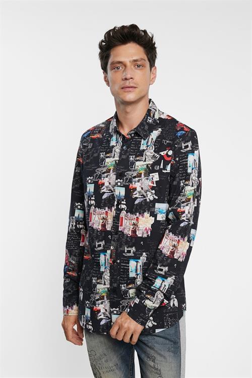 košile Desigual Abelardo negro