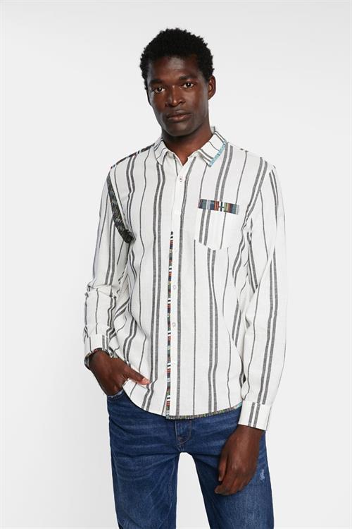 košile Desigual Ademar blanco