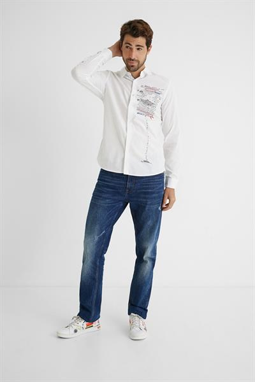 košile Desigual Adelino blanco