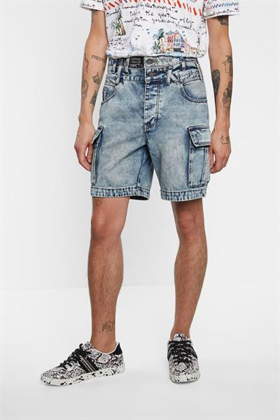 kraťasy Desigual Cesar denim medium wash