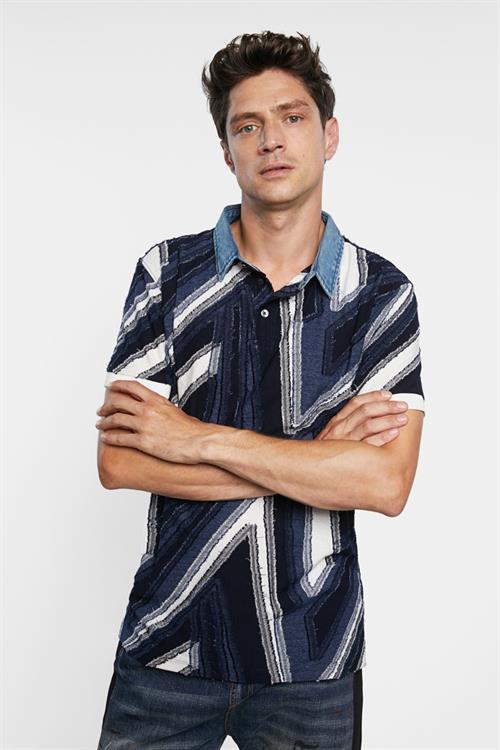 tričko Desigual Vicent marino