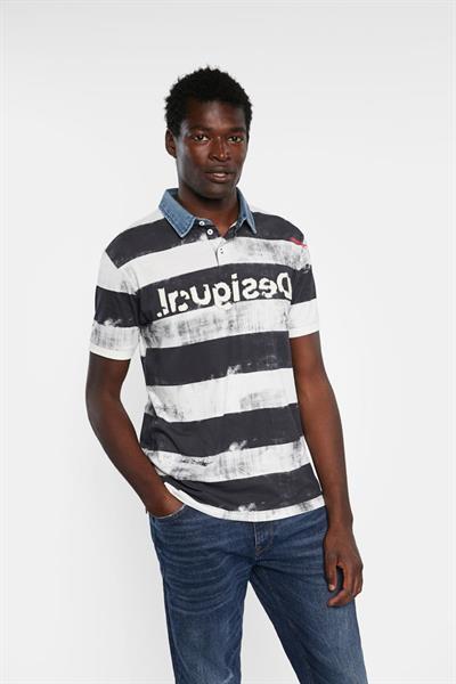 tričko Desigual Julien azul artico