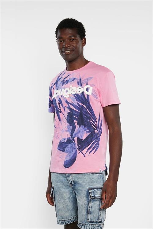 tričko Desigual Carles rosa helado