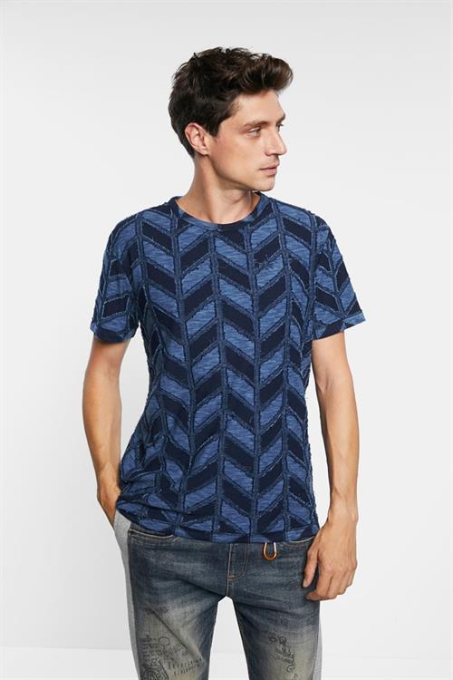 tričko Desigual Candido navy