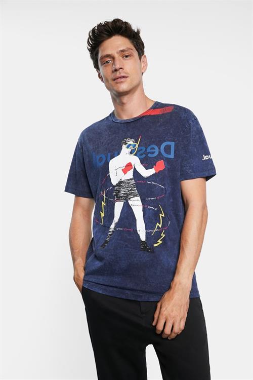 tričko Desigual Cancio navy