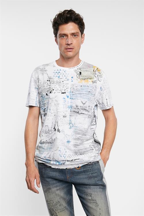 tričko Desigual Celso blanco