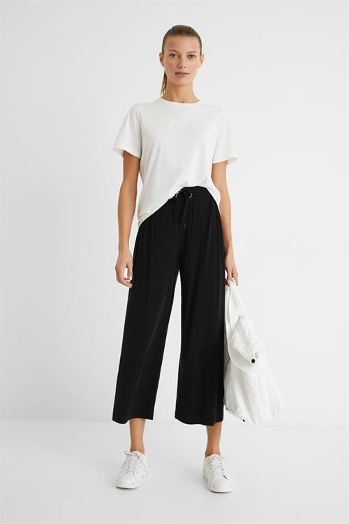 nohavice Desigual Pant Black negro