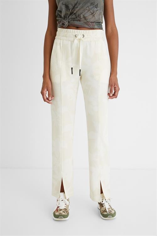 kalhoty Desigual Pintuck Camo hueso