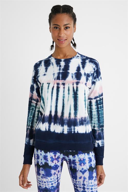 mikina Desigual Tie Dye indigo