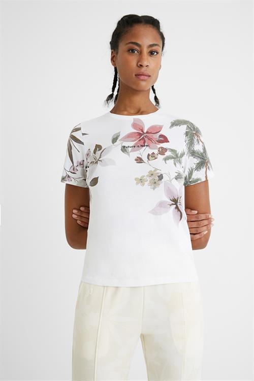 tričko Desigual Crossed Open Back Li blanco