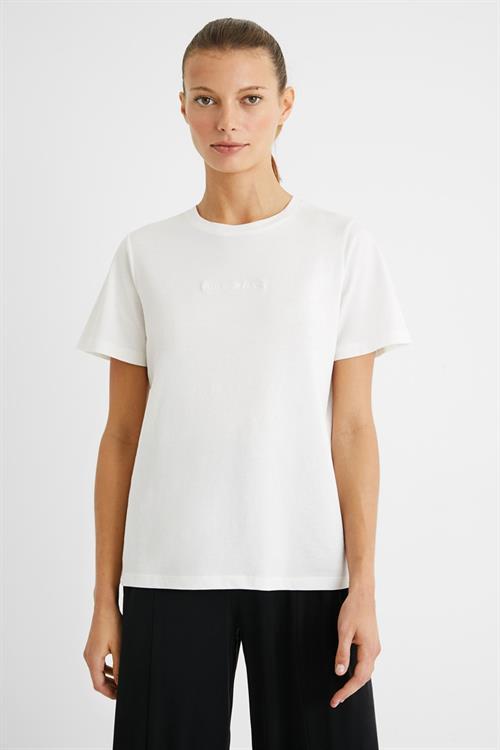 tričko Desigual Mandala Back blanco