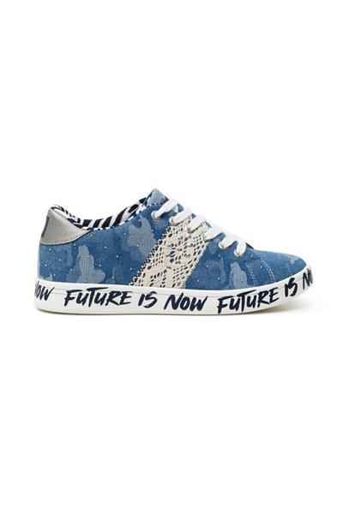 boty Desigual Cosmic Militar jeans