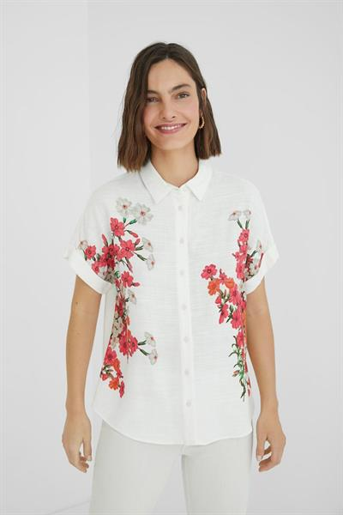 košeľa Desigual Grisol blanco