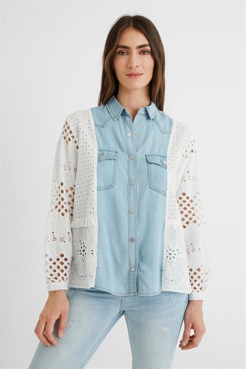 košeľa Desigual Indo blanco