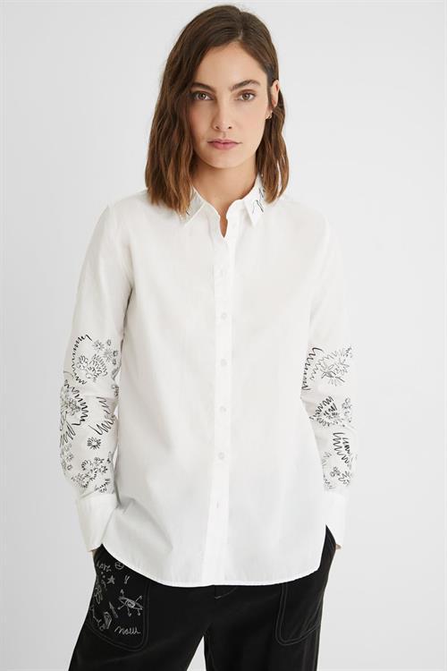 košeľa Desigual Chiara blanco
