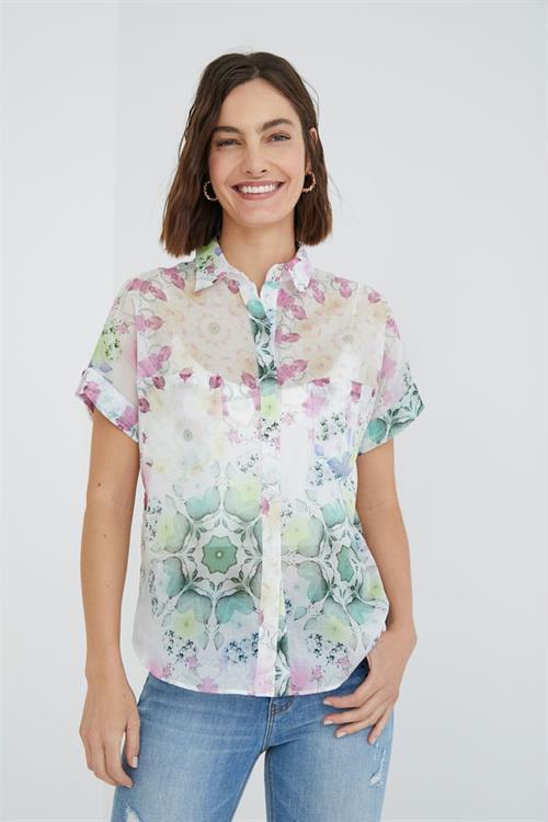 košeľa Desigual Sheila blanco