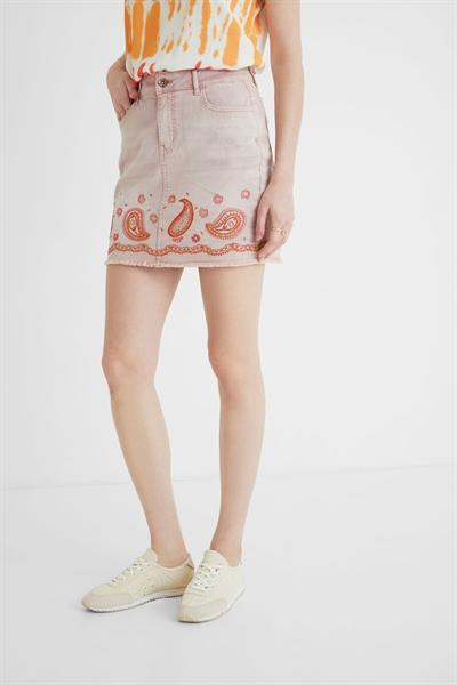 sukňa Desigual Billi Jeans rosa palo
