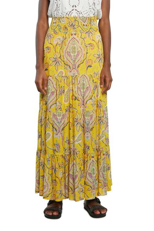 sukňa Desigual Florencia amarillo canario