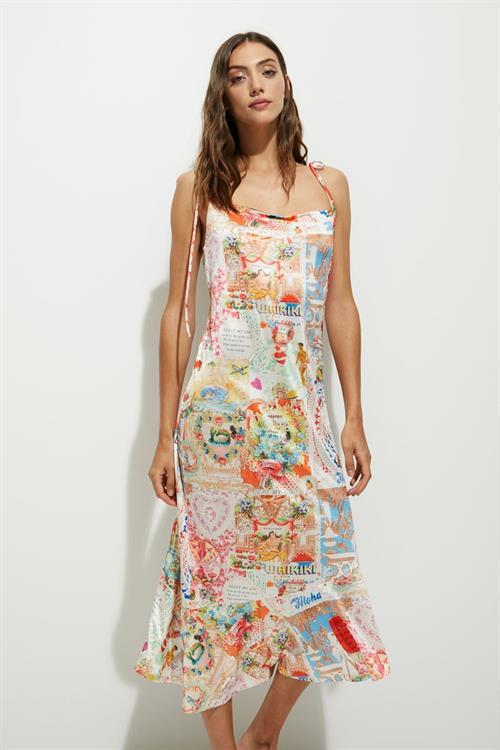 šaty Desigual Ko Tao blanco