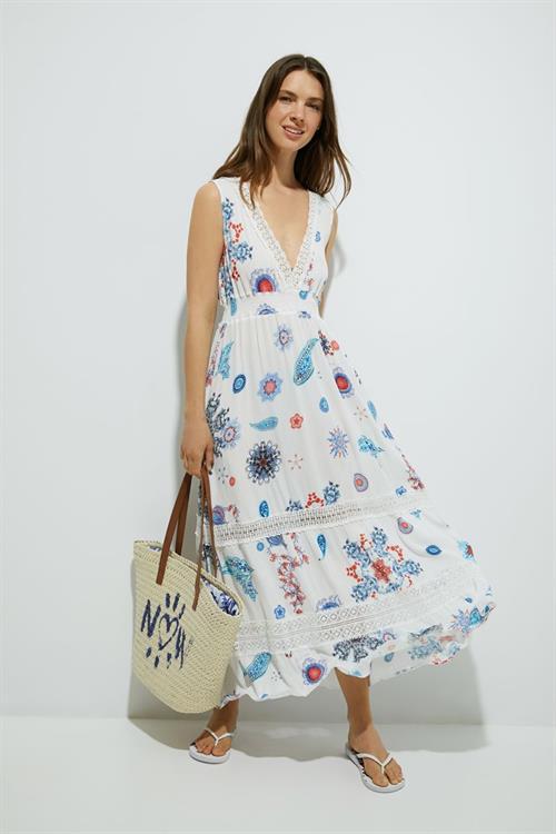 šaty Desigual Tahiti blanco