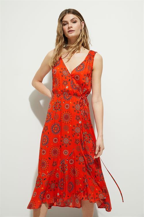 šaty Desigual Santorini rojo clavel
