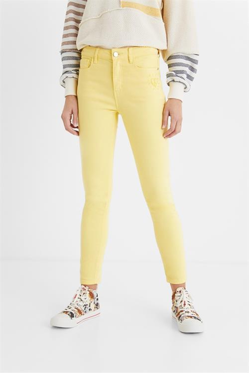 nohavice Desigual Alba amarillo