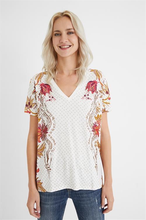 tričko Desigual Praga blanco
