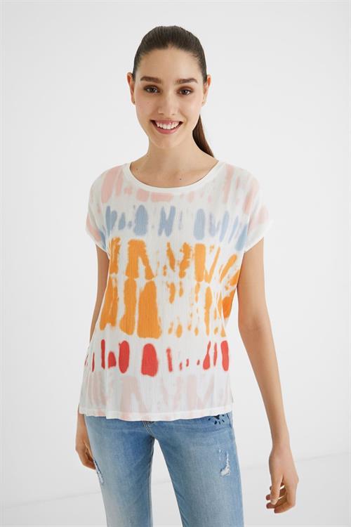 tričko Desigual Palmer caramelo