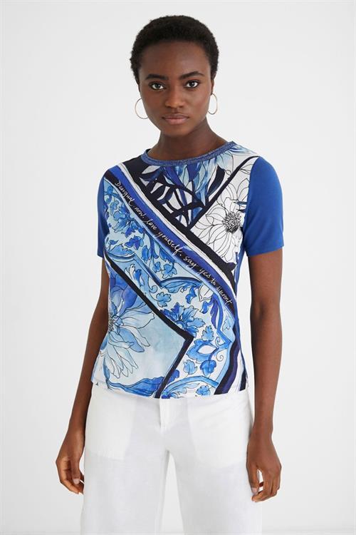 tričko Desigual Pals estate blue