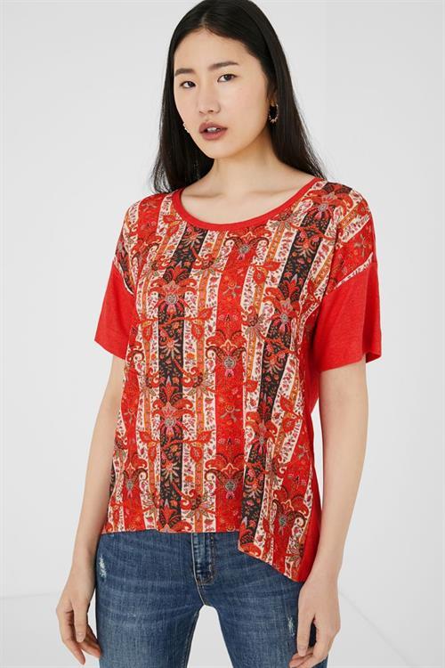 tričko Desigual Lombok rosa palido