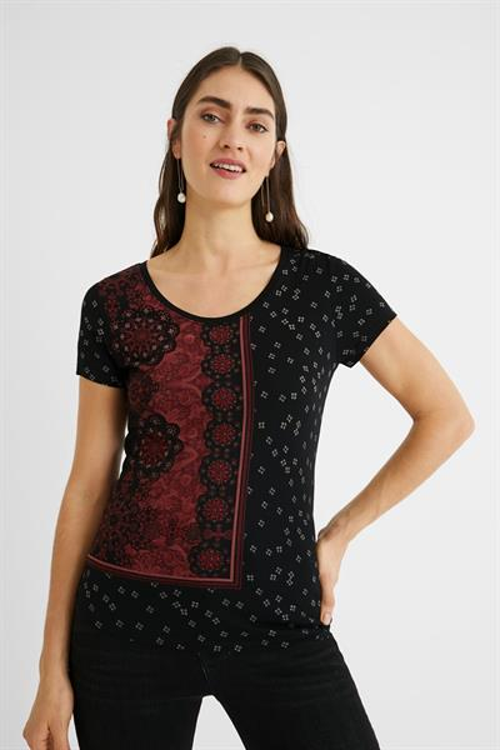 tričko Desigual Estambul negro