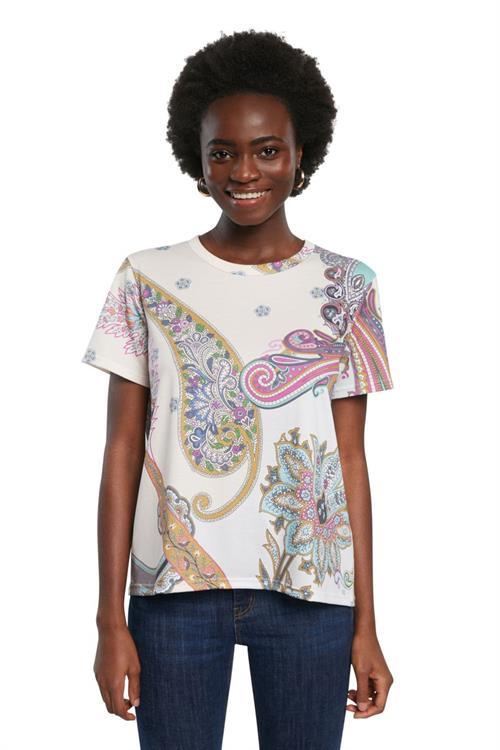 tričko Desigual Popasley crudo