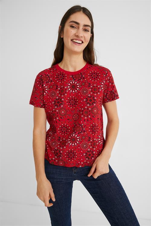 tričko Desigual Lyon rojo clavel