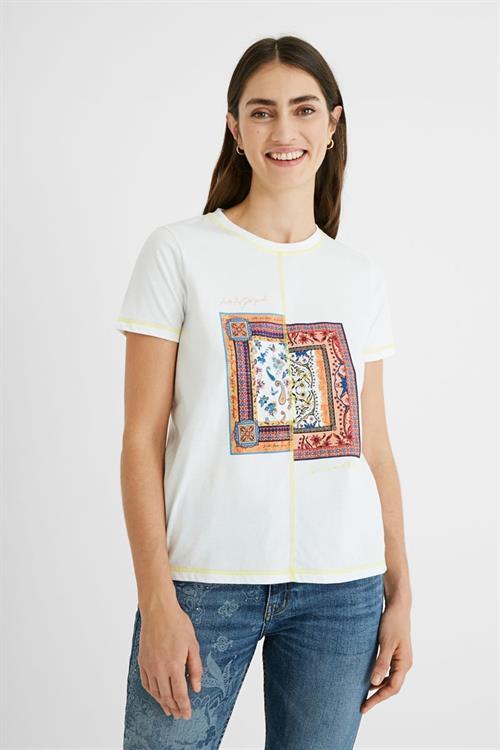 tričko Desigual Verona blanco