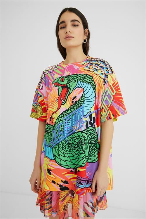 tričko Desigual Bing fucsia